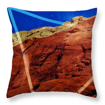 Throw Pillow featuring the mixed media Uplifting by Michelle Dallocchio