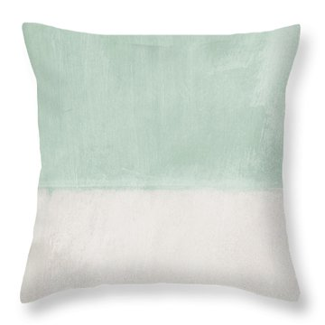 Upon Our Sighs 2- Abstract Art Throw Pillow