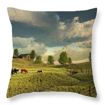 Upon The Rural Seas Throw Pillow