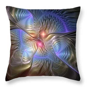 Upon The Wings Of Music Throw Pillow