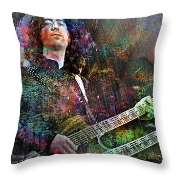 Upon Us All A Little Rain Must Fall Throw Pillow