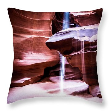 Throw Pillow featuring the photograph upper antelope Canyon by Norman Hall