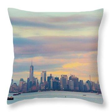 Upper Bay New York Throw Pillow