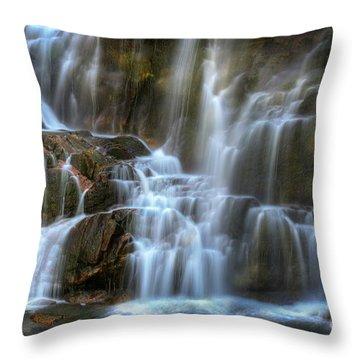 Upper Beartooth Falls Throw Pillow