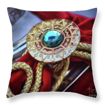Upper Class Decoration Detail On Roman Soldier Throw Pillow by Stephan Grixti