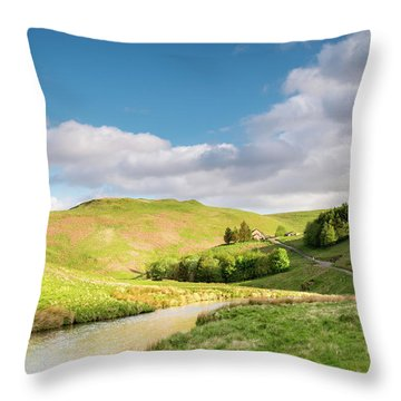 Upper Coquetdale Valley Throw Pillow