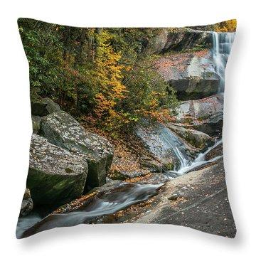 Upper Creek Falls Throw Pillow