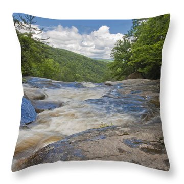 Upper Creek Waterfalls Throw Pillow