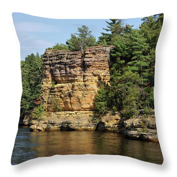 Upper Dells Throw Pillow