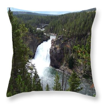 Throw Pillow featuring the photograph Upper Falls by Charles Robinson
