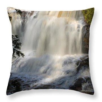 Upper Falls Gooseberry River 2 Throw Pillow