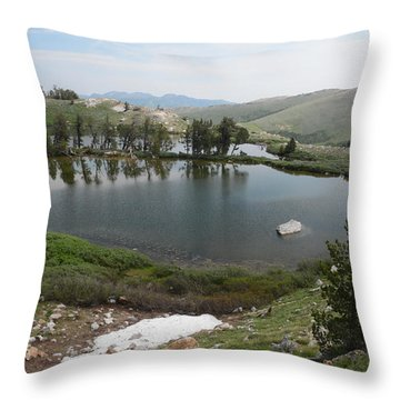Upper Hidden Lake Throw Pillow