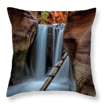 Upper Kanarraville Falls Throw Pillow