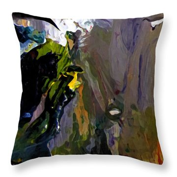 Throw Pillow featuring the painting Upper Mercer River by Charlie Spear
