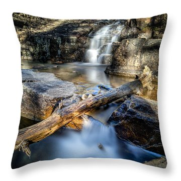 Upper Provo River Falls Throw Pillow
