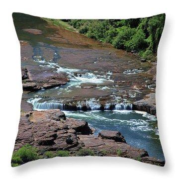 Upper Salt Throw Pillow