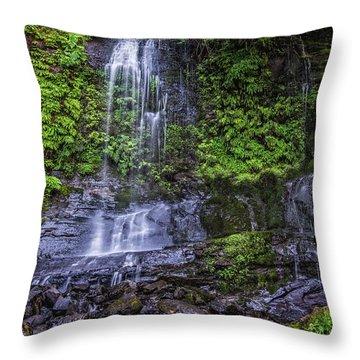Upper Terrace Falls Throw Pillow by Joe Hudspeth