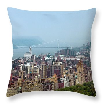 Upper West Side Throw Pillow by Az Jackson