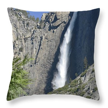 Upper Yosemite Falls Throw Pillow