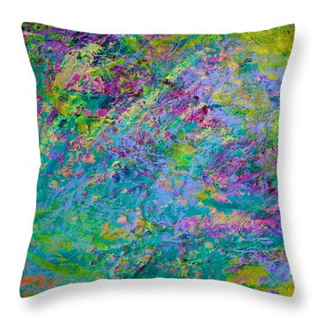 Uprising Color Poem Throw Pillow