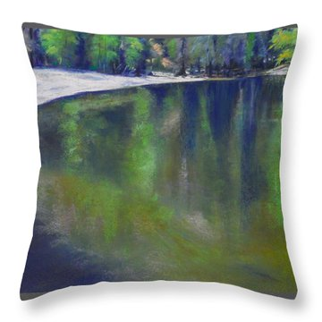 Upriver View Throw Pillow