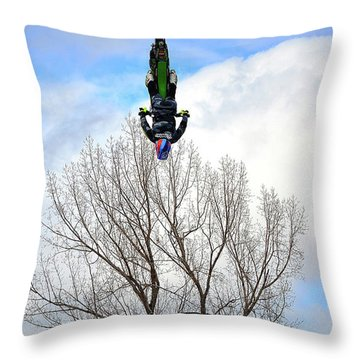 Throw Pillow featuring the photograph Upside Down And All Around by Barbara Dudley