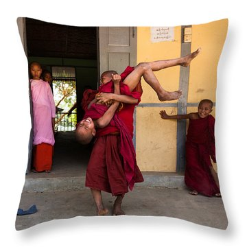 Upside Down Throw Pillow by Marji Lang