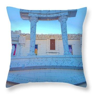Upside Down White House Throw Pillow