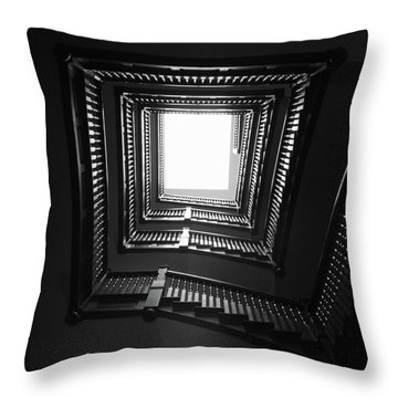 Upstairs- Black And White Photography By Linda Woods Throw Pillow