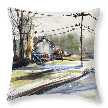 Upstate Ny Sunday Drive Throw Pillow by Judith Levins
