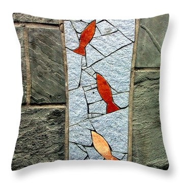 Upstream Throw Pillow