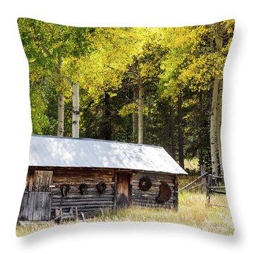 Uptop A Colorado Ghost Town Throw Pillow