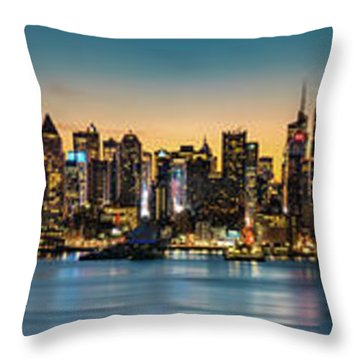 Throw Pillow featuring the photograph Uptown And Midtown At Sunrise by Francisco Gomez
