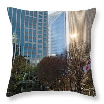 Uptown Charlotte, North Carolina Throw Pillow