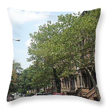 Uptown Ny Street Throw Pillow by Vannetta Ferguson