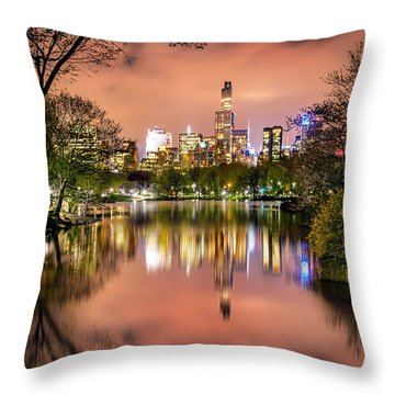 Uptown Skyscrapers Throw Pillow