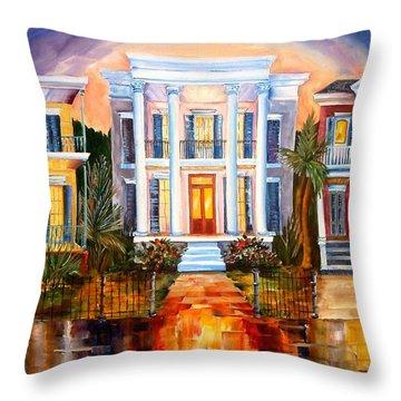 Uptown Tonight Throw Pillow by Diane Millsap