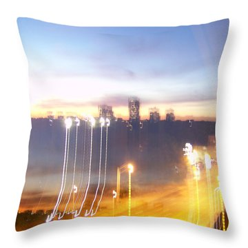 Uptown Toronto - Friday Night Throw Pillow