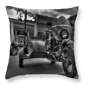 Ural - Bw Throw Pillow