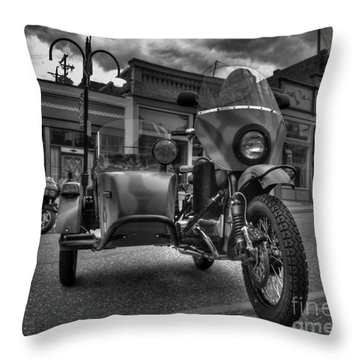 Ural - Bw Throw Pillow