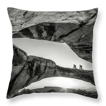 Uranium Arch Throw Pillow