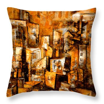 Urban Abstract #1 Throw Pillow
