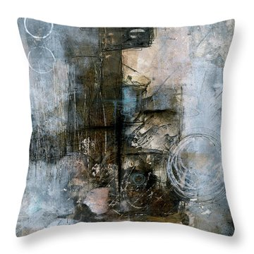 Urban Abstract Cool Tones Throw Pillow
