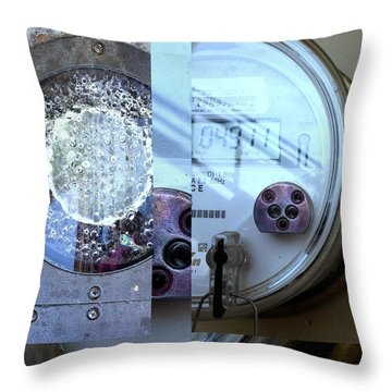 Urban Abstracts Seeing Double 58 Throw Pillow