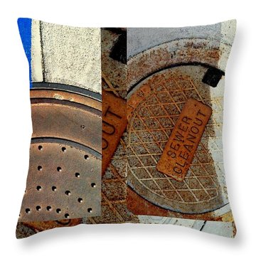 Urban Abstracts Seeing Double 84 Throw Pillow