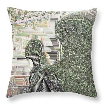 Urban Angel Throw Pillow