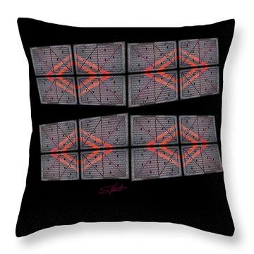 Urban Break-up Throw Pillow by Charles Stuart