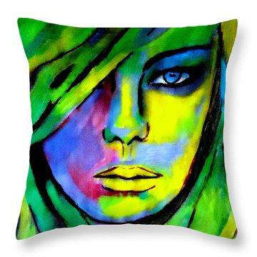 Urban Camouflage Throw Pillow by Helena Wierzbicki