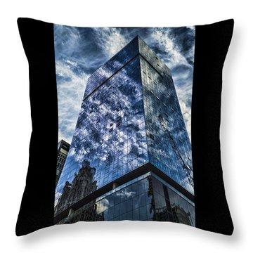 Urban Clouds Reflecting  Throw Pillow