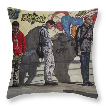 Urban Connection Throw Pillow by Kim Selig